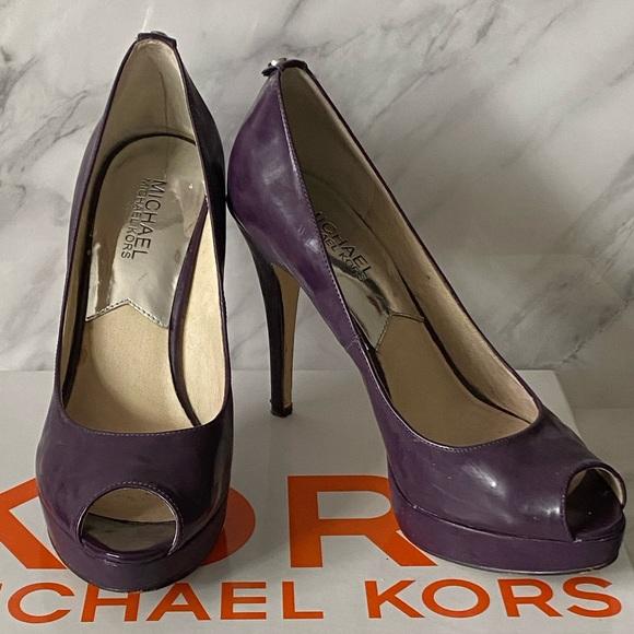 Michael Kors Patent Leather Platform Heels